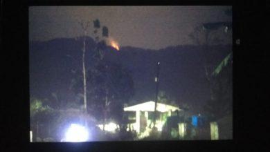 kebakaran di gunung suta