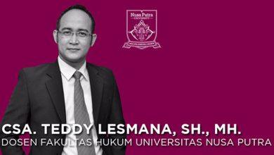 Teddy Lesmana SH Nusa Putra 390x220 - Diskusi Ilmiah Hingga Law Debate Competition di Universitas Nusa Putra