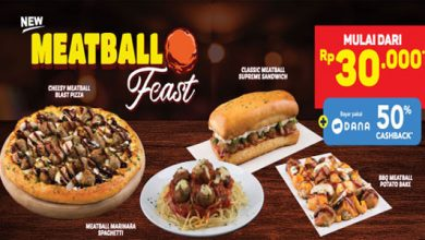 Dominos Pizza MeatBall  390x220 - Domino's Pizza Sukabumi