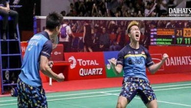 Marcus Fernaldi dan Kevin Sanjaya 1 390x220 - Minions Raih Gelar Juara Di Ajang Indonesia Master 2019
