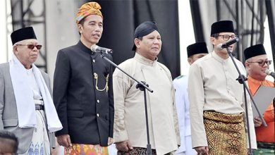 Jokowi Prabowo 390x220 - Pemilu Usai, Demokrat Imbau Koalisi Prabowo dan Jokowi Dibubarkan