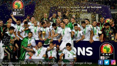 aljazair menjadi juara piala afrika 2019 setelah mengalahkan senegal di laga final foto afp 390x220 - Hamtam Senegal, Aljazair jadi Raja Afrika
