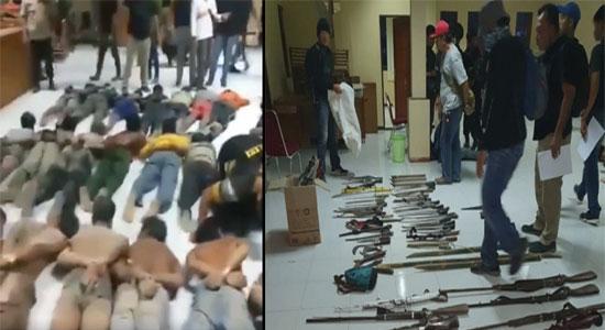 aniaya TNI - Aniaya TNI Bawa Senjata Rakitan, Bos SMB dan 45 Anak Buahnya Diciduk, Lihat Videonya