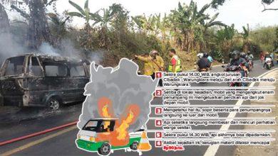 Angkot Terbakar 390x220 - Sopir dan Penumpang Nyaris Terbakar