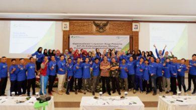 Peserta foto bersama 390x220 - BPJS Ketenagakerjaan Sukabumi Gelar Sosialisasi PLKK dan RTW