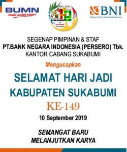 HUT Kab Sukabumi BNI 250x300 - HUT Kabupaten Sukabumi ke 149, Meluruskan Sejarah Hari Jadi Kabupaten Sukabumi