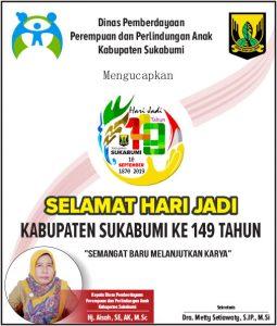 HUT Kab Sukabumi DP3A 255x300 - HUT Kabupaten Sukabumi ke 149, Meluruskan Sejarah Hari Jadi Kabupaten Sukabumi