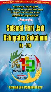 HUT Kab Sukabumi PT Batu Bukit Intan 168x300 - HUT Kabupaten Sukabumi ke 149, Meluruskan Sejarah Hari Jadi Kabupaten Sukabumi