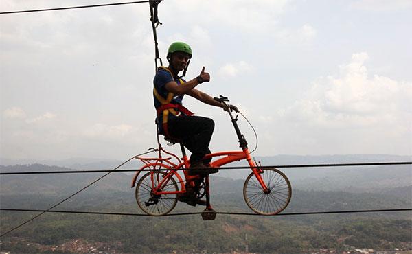 Karangpara Sepeda Gantung2 - Karpet Terbang  Karangpara, Keren Banget, Ada Sepeda Gantung Juga