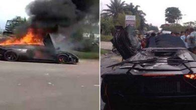 Lamborzini Rafli Ahmad 390x220 - Lamborghini Raffi Ahmad Terbakar