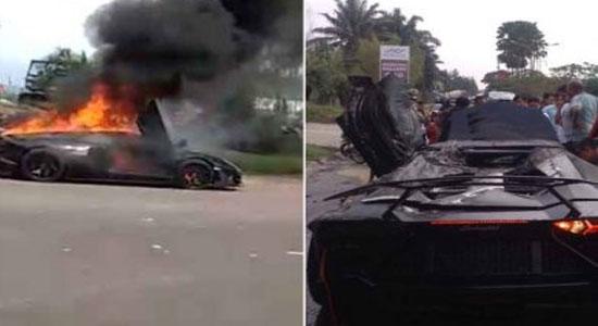 Lamborzini Rafli Ahmad - Lamborghini Raffi Ahmad Terbakar