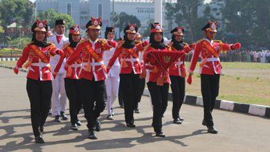 MAn 2 kota Sukabumi Marcing Band 390x220 - Marching Band MAN 2 Iringi Upacara HSN