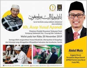 Abdul Muiz Ucapan 300x236 - Adjo Siap Jadi Kader, Empat Calon Sudah Merapat ke Gerindra