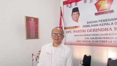 Sekretaris DPC Partai Gerindra Kabupaten Sukabumi Agus Firmansyah
