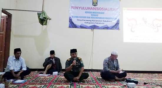 Danramil 0705 Kecamatan Sukabumi Kapten Inf Ahmad Samas - Danramil 0705 Sukabumi Masuk Desa
