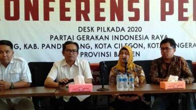 Gerindra Banten 390x220 - Siti Nur Azizah Putri Wapres KH Ma'ruf Amin Daftar Cawalkot Lewat Gerindra