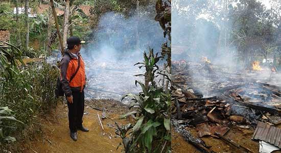 Kebakaran Kalapanunggal - Rumah Wiwin Rata Dengan Tanah
