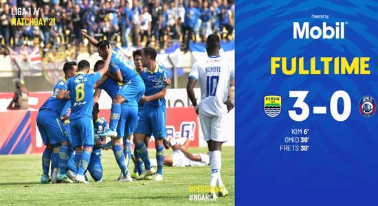 Persib Bandung 1 - Persib Bandung Menang Tiga Gol Tanpa Balas