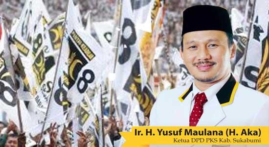 Ketua DPD PKS Kabupaten Sukabumi, Ir. H Yusuf Maulana (H Aka)