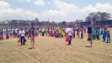perlombaan engrang Kota Sukabumi 390x220 - Ribuan Pelajar Ikuti Lomba Permainan Tradisional