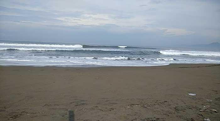 Kondisi Pantai Citepus Palabuhanratu Kabupaten Sukabumi