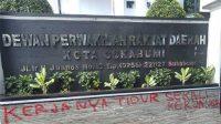 Vandalisme DPRD Kota Sukabumi
