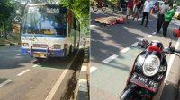 Bus Pusaka yang menabrak pengendara motor