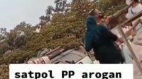 Oknum-Satpol-PP-Cekik PKL-di-Area-Stadion-Pakansari