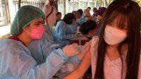 Vaksinasi covid-19 di PMI Kota Bekasi