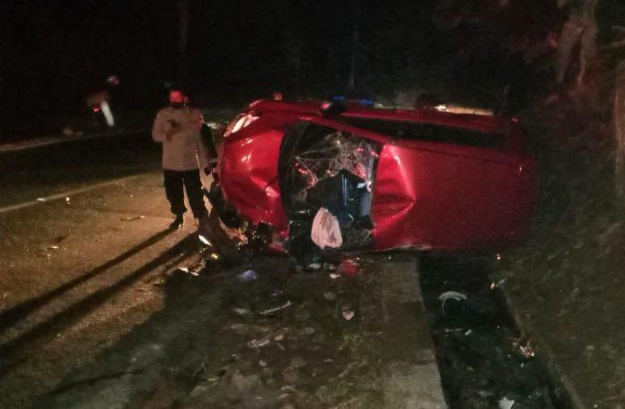 kecelakaan di Jalan Raya Cugenang-Cipanas