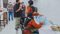 GEMBIRA: Menteri BUMN, Erick Thohir mengunjungi anak-anak Panti Sosial Penyandang Disabilitas Mental, Sensorik Netra, Rungu Wicara, Tubuh (PSRPD MENSENETRAWITU). Ist