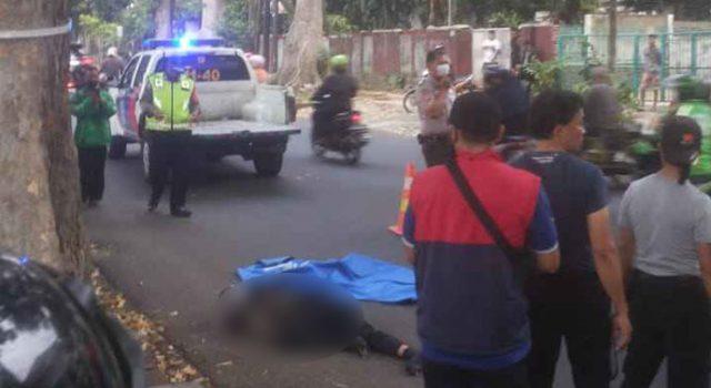 Pengendara motor tewas di Jalan Ahmad Yani